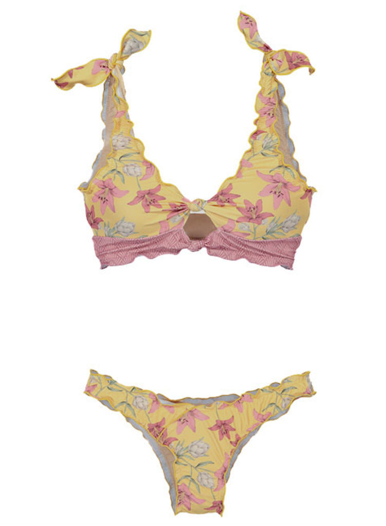 Printing two-piece swimsuit(LC411663-7-5)