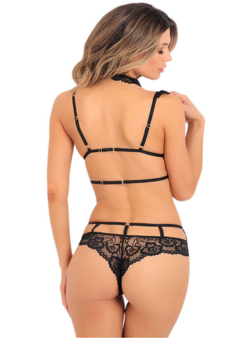 Image of Lace Choker Bralette Set(LC43035-2-2)