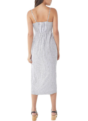 Button-down Linen Midi Dress (LC610290-19-2)