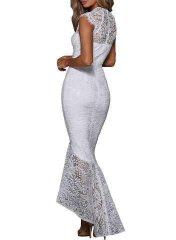 Lace Overlay Bodycon Mermaid Dress