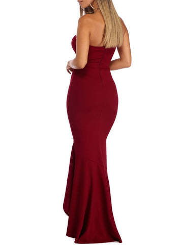 Image of Ruffled Bodycon Maxi Dress