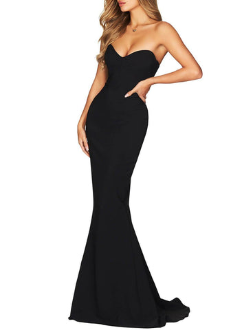 Image of Strapless Sweetheart Neckline Mermaid Gown