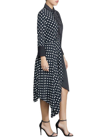 Polka Dot Asymmetric Vintage Dress