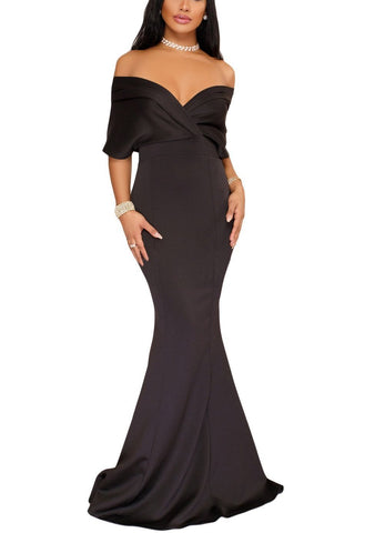 Off The Shoulder Mermaid Maxi Dress