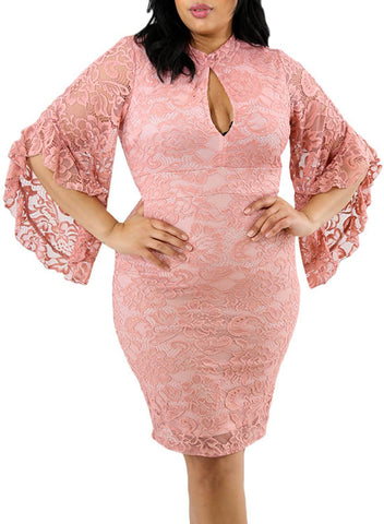 Image of Plus Size Keyhole Bodycon Dress