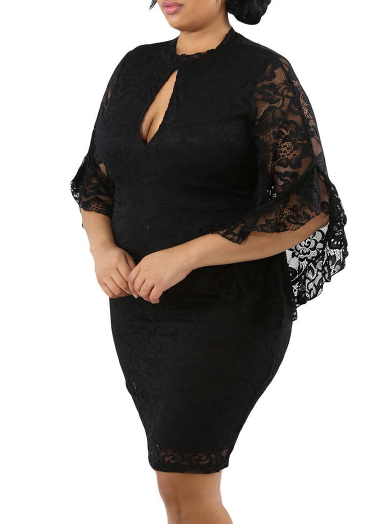 Plus Size Keyhole Bodycon Dress