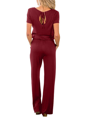 Casual Lunch Date Jumpsuit (LC64388-3-2)
