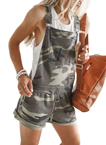 Camo Pocketed Short Overall(LC64587-22-2)