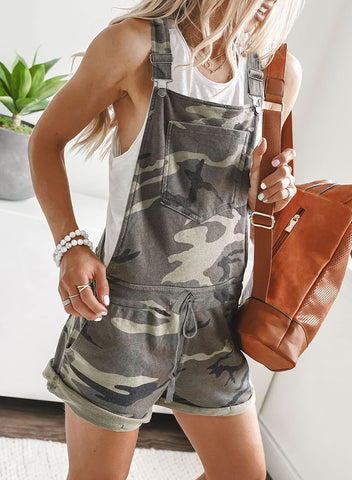 Camo Pocketed Short Overall(LC64587-22-1)