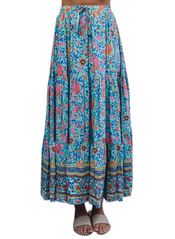 Image of Boho Floral Drawstring Skirts (LC65180-7-4)