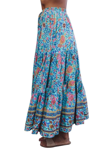 Image of Boho Floral Drawstring Skirts (LC65180-7-3)