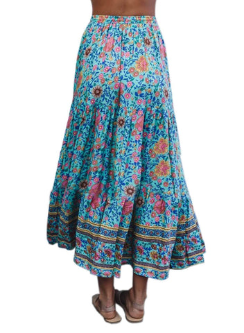 Image of Boho Floral Drawstring Skirts (LC65180-7-2)