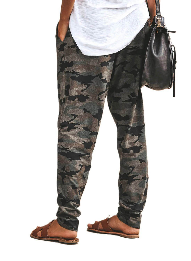 Under The Radar Pocketed Camo Joggers