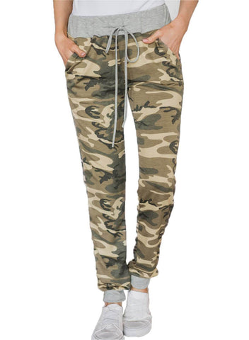 Image of Under The Radar Pocketed Camo Joggers