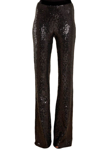 Image of High Waist Sequin Bell-bottom Pants