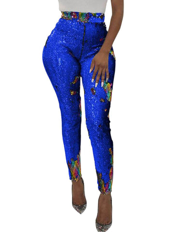 Image of High Waist Retro Sequin Leggings