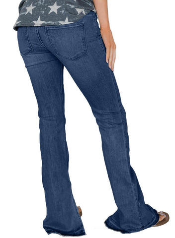 Retro Slim Fit Bell-Bottom Wide Flared Jeans