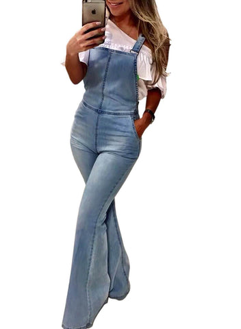 Sling Denim Horn Jumpsuit (LC786153-4-1)