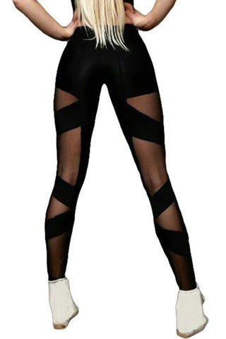 Image of Cross Mesh Sports Leggings