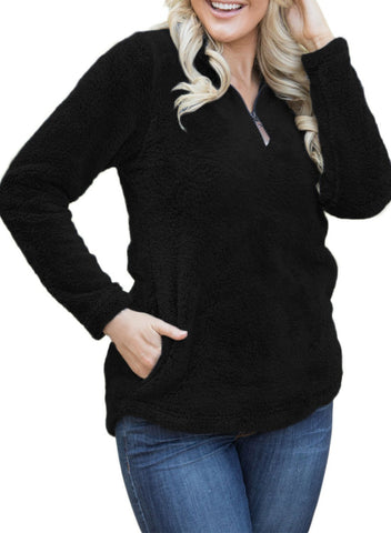 Image of 1/4 Zip Fleece Pullover Jacket