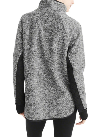 Image of Fleece Asymmetrical Snap Pullover Sweatshirt
