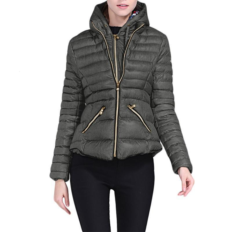 Hooded Cotton Quilted Jacket