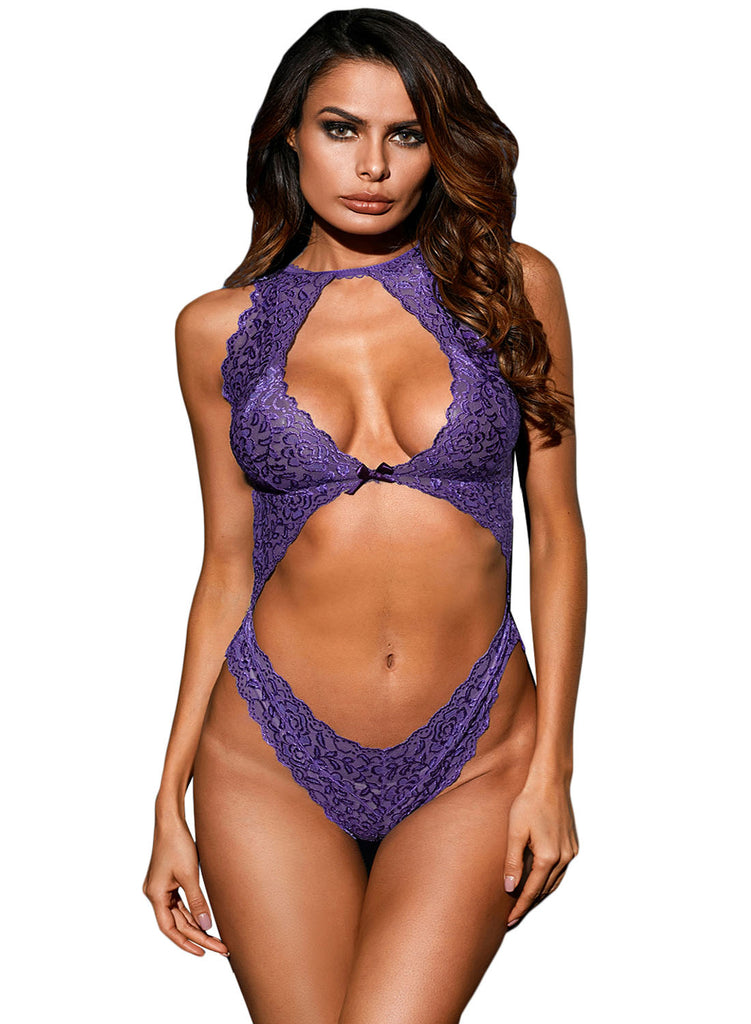 Cut out Lace Teddy(LC32179-8-1)