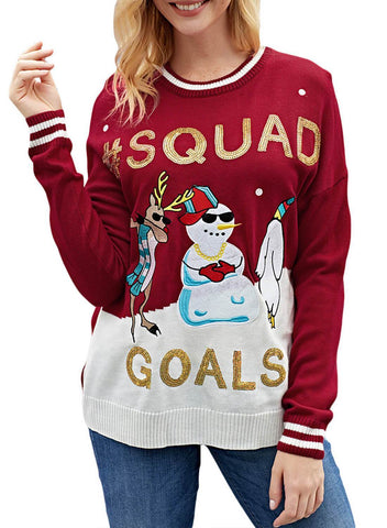 Image of Christmas Snowman Ugly Sweater