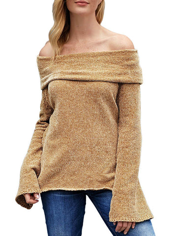 Image of Soft Velvet Knit Off Shoulder Sweater