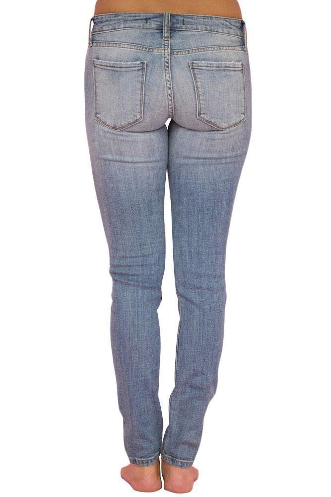 Faded Wash Distressed Jeans
