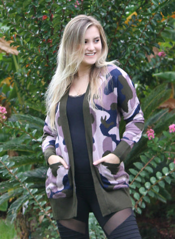 Image of Open Front Sweater Cardigan