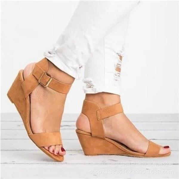 Wedges Casual Buckle Strap Roman Gladiator Sandals