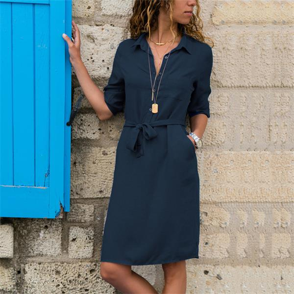 Half Sleeve Shirt Dress
