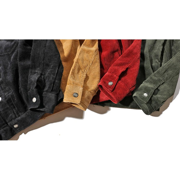 Mens Solid Color Corduroy Jacket