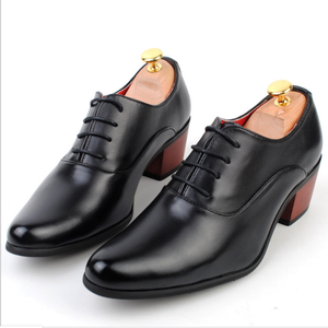 3c163283461 High Heeled Men's Shoes With Increased British Shoes – bycbac