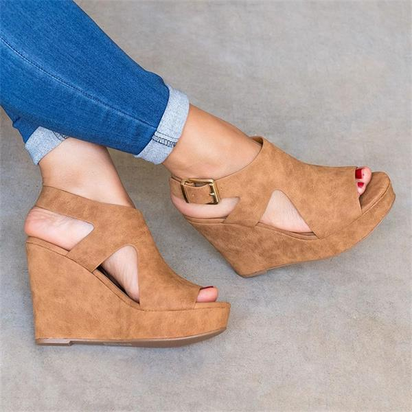 Platform Wedge Concise Elegant Heels Sandals