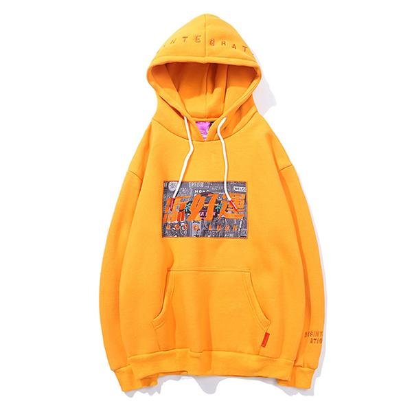Good Luck Embroidered Printed Hoodie