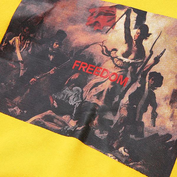 Freedom Printed Cotton Pullover Skateboard Hoodie