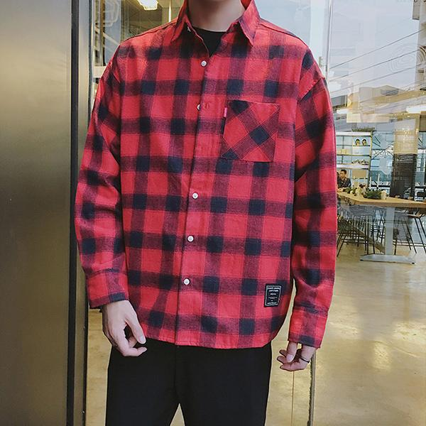 Casual Long Sleeve Plaid Shirts