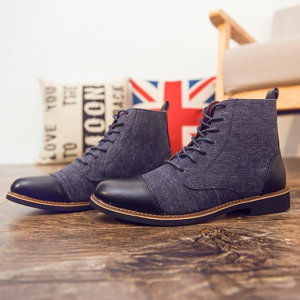Big size casual England men's Martin boots