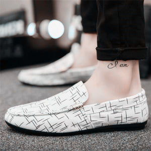 Men canvas peas casual flats shoes