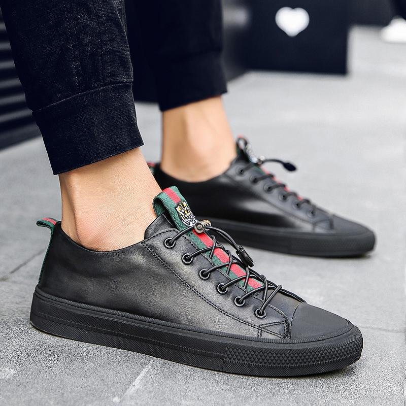 MIURO LEATHER SNEAKERS