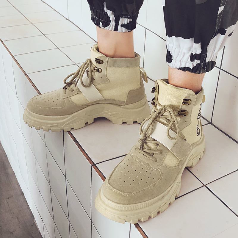 High Top Fashion Walking Boot Ankle Flats Shoes
