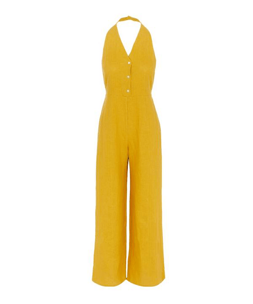 Beirut Jumpsuit in Mustard - ineffably