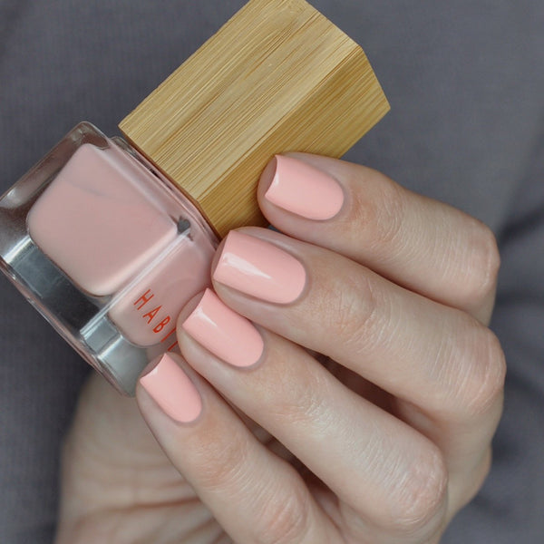 pale pink non toxic vegan nail polish by Habit