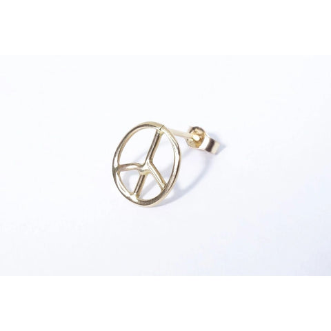 Peace Sign Stud - ineffably