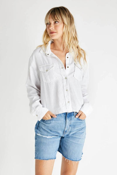 Diana Long Sleeve Top in Sustainable White - ineffably