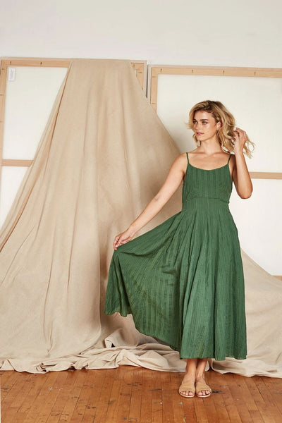 Goa Slip Dress Fern - ineffably