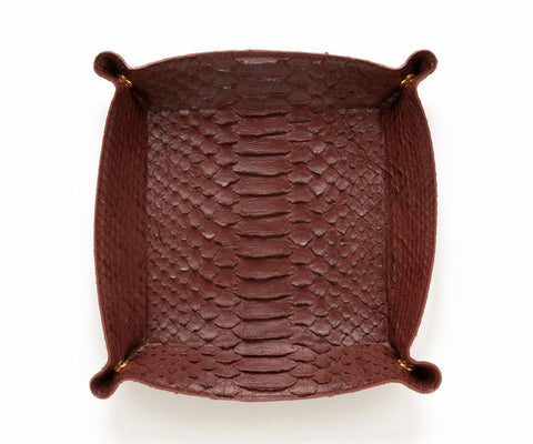 Large Python Catchall Tray in Ruby - ineffably
