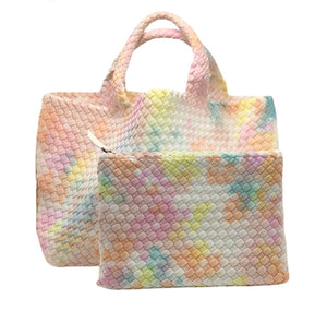 a hand dyed small neoprene tote by naghedi